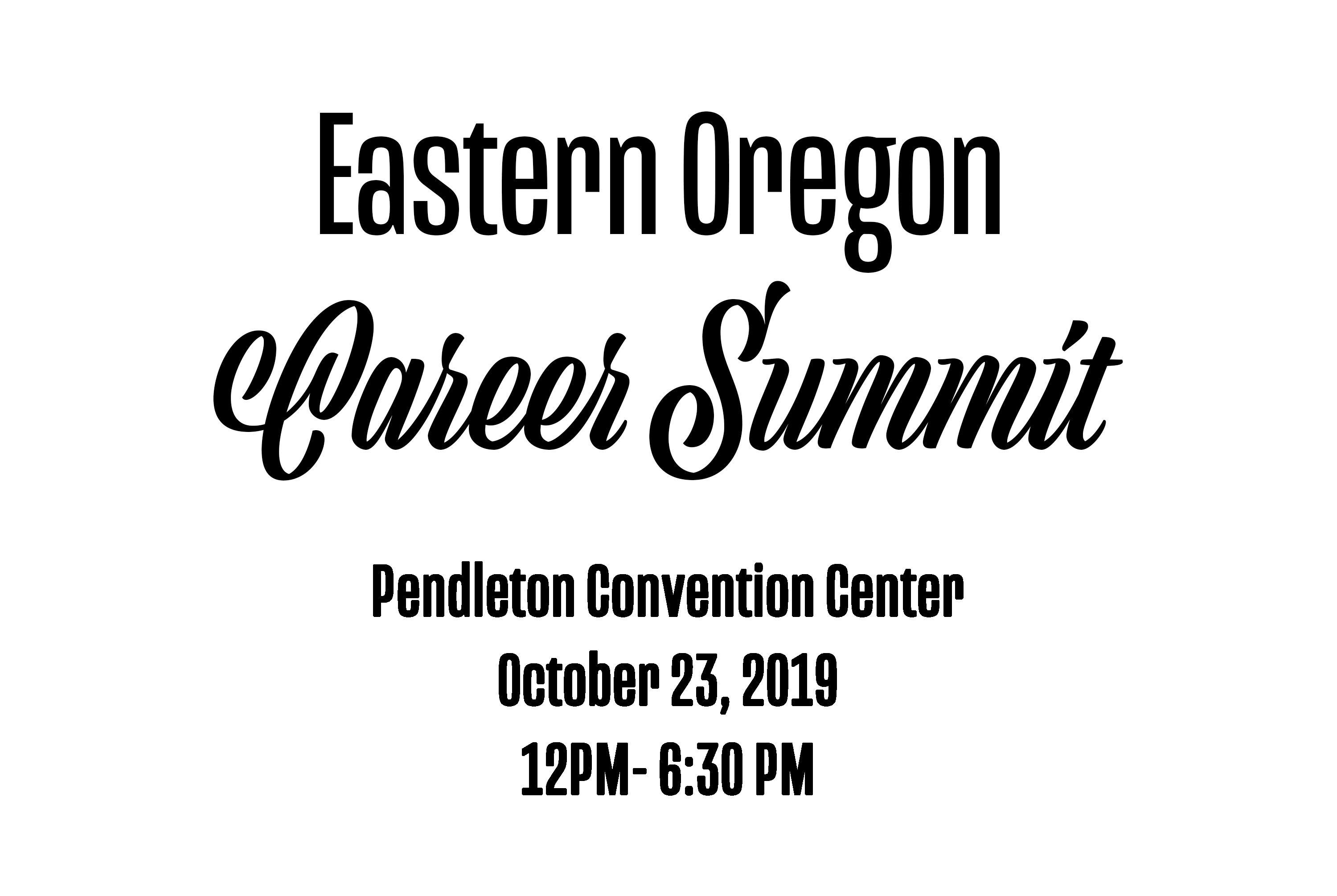 Eastern Oregon Career Summit
