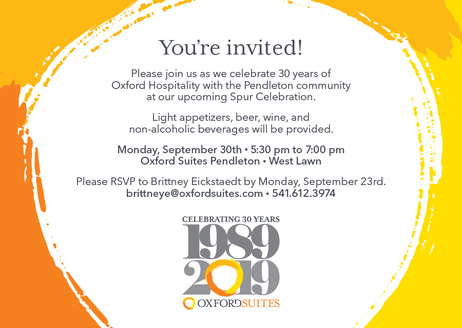Celebrating 30 years of Oxford Hospitality & Spur Ceremony